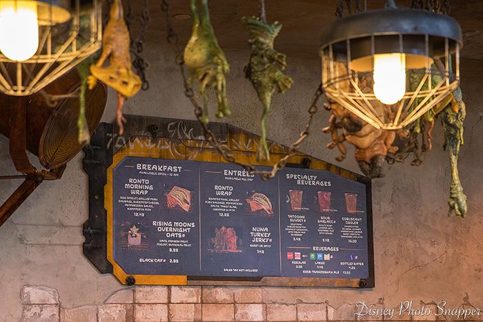 The menu board at Ronto Roasters