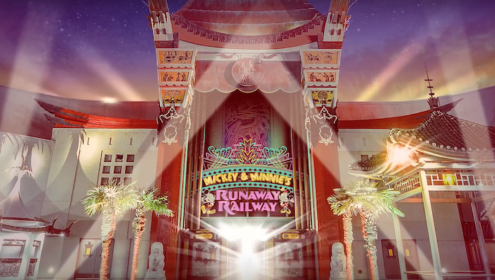 The new marquee for Mickey and Minnie's Runaway Railway. It's hard to choose between Millennium Falcon:Smugglers Run and Mickey and Minnie's when choosing FastPass+