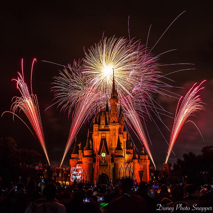 The Halloween fireworks at the Magic Kingdom are INCREDIBLE if you are looking at Christmas 2020 vs Halloween 2021