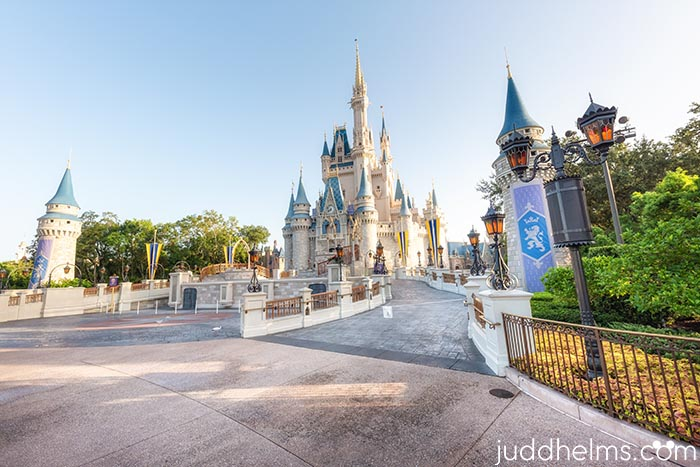 No crowds in front of Cinderella Castle might be what the disney world crows will be when the parks reopen