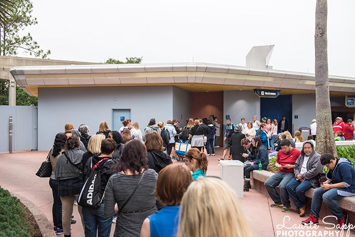 Big lines at an Epcot restroom will be a thing of the past when Disney World reopens