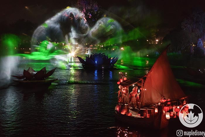 The water and light combinations make Rivers of Light really shine even if it's scheduled after the park closes