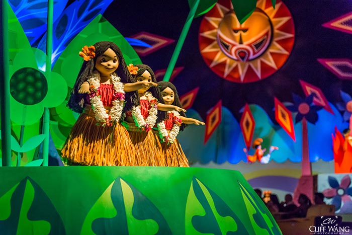 The Hula Girls in its a small world in Fantasyland
