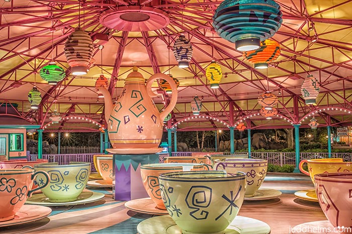 The Mad Tea Party (Teacups) in Fantasyland are beautiful