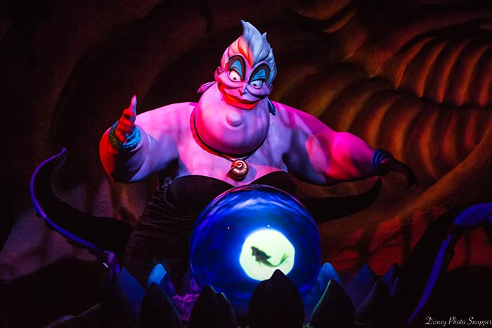 Urusala is a big part of the Voyage of the Little Mermaid in Fantasyland