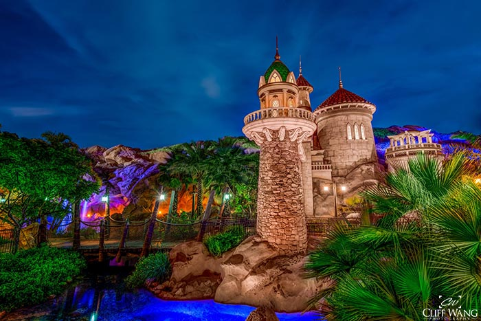 Prince Eric's Castle in Fantasyland is home of Be Our Guest